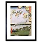 Utagawa Hiroshige Japanese 100 Views Edo 035 Framed Wall Art Print