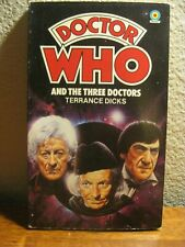 The Three Doctors Terrance Dicks Target Paperback Signed by Nicholas Courtney