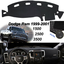 Dashmat Cover For DODGE RAM 1500 2500 3500 1998-2001 Dash Anti-Slip Black Carpet