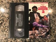 The Texas Chainsaw Massacre Part 2 Vhs! Awesome 1986 Slasher! Pop Up Cover!
