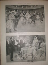Ice carnival at Niagara Hall London & Sarah Bernhardt celebrations 1896 prints