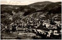 Forbach Schwarzwald Postkarte 1975 gelaufen Gesamtansicht Panorama Wald Berge