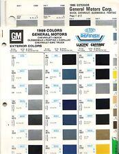1986 GM CHEVROLET PONTIAC BUICK CADILLAC CORVETTE PAINT CHIPS