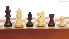 "SMALL FOLDING ROSEWOOD CHESS SET, INLAID 11 5/8"" BOARD, K=2.5"" (391)"