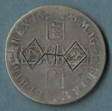 UK William III 1696 Silver Crown OCTAVO Ireland Scotland Jacobite Countermark