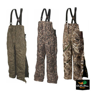 DRAKE WATERFOWL LST YOUTH REFUGE INSULATED BIBS - YOUNG GUNS - WINDPROOF