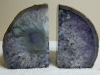 Gorgeous Polished Crystal Geode Nodule Bookends