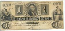 1852 $1 District of Columbia Washington D C Presidents Bank CH CU None on Ebay.