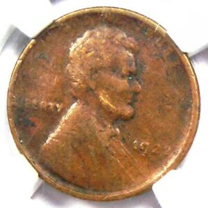 "1922 No D ""Plain"" Lincoln Wheat Cent Penny 1C (Weak Reverse) - Certified NGC F15"