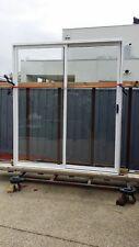 WHITE 2100HX1800W ALUMINIUM SLIDING DOOR WITH 6.3 CLEAR LAMINATED GLASS