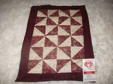 """""""Paisley Pin Wheels"""" Wall, Table or Doll Quilt Handmade 17"""" x 12"""" Great gift"""