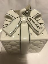 Pandora Porcelain Gift Box Ornament 2016 Limited Edition. Box Has Mark
