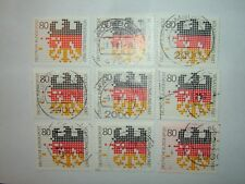 1987 WEST GERMANY ABACUS BEADS, CENSUS STAMPS x 9 MNH/VFU (sg2173)