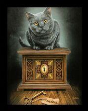 Pequeño Lienzo de pared con gato - pandora's Box - Lisa Parker imágenes
