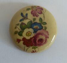 vintage ceramic flowers brooch