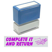 """Teacher Stamp JYP PA1040 Pre-Inked Rubber Stamp w. """" COMPLETE IT AND RETURN"""""""