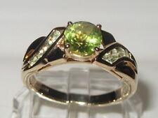 Beautiful Gems TV 9ct Yellow Gold Peridot Gem Set Ring. 3.3g