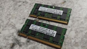 4GB Samsung 2GB 2Rx8 PC2-6400S-666-12-E3 DDR2 RAM 200 PIN DIMM M470T5663QZ3-CF7