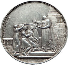 1835 FRANCE Antique French Christian COMMUNION by Priest Silver Medal i63491