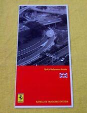 Ferrari Owners Handbook RARE Supplement - Security NavTrack - UK/Eng Text 2007