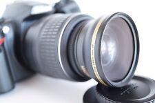 Wide Angle Macro Semi Fisheye Lens for Nikon dslr d5300 d3000 d50 52mm Polarizer
