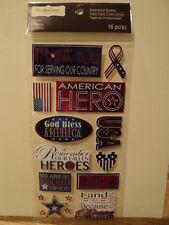 Recollections American Hero 3D Pegatinas BNIP * Nuevo *