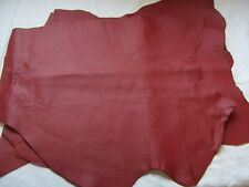 LS2 Lederrest 44x30cm LaTempra rot 0,9mm Rindsleder Nappa Basteln Lederhaut Neu