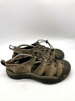 Keen Mens Waterproof Sandals Hiking Shoes Closed Toe Brown Green Size 10 EU 43