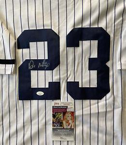 Don Mattingly Autographed Jersey New York Yankees JSA COA Signed