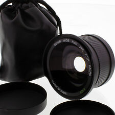 Wide 0.42x Fisheye & MACRO for CANON EF-S 18-55mm 55-250mm 70-300mm camera Lens
