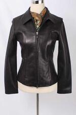 West Coast Leather Size 6 Black Zip Front Glove Leather Jacket 3253 ST81D