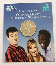 London 2012 Olympic 50p– 2009 Blue Peter Winners Edition Coin - MINT IN FOLDER -