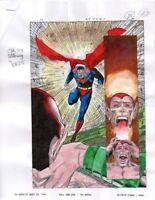 Original JLA 27 Superman DC Comics action adventure comic book color guide art