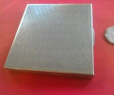 Lovely vintage ladies silver plate cigarette case