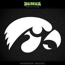 "University of Iowa - Hawkeyes -  NCAA - White Vinyl Sticker Decal 5"""