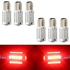 6x Red 1157 BAY15D 33SMD Car LED Bulbs Turn Tail Brake Stop Backup Signal Light