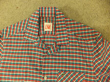Lacoste Live! Checked Mens Shirt Size 39 Chest Short Sleeved