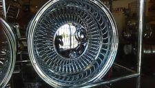 "Roadster Wire Wheel  14 x 7"" Rev.100 Spk Straight-Lace lowrider W/cap  New!"