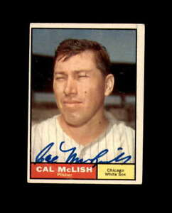 Cal McLish Hand Signed 1961 Topps Chicago White Sox Autograph