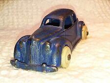 "Vintage Arcade 1930s Cast Iron Sedan Car MARKED 4 1/2"""