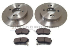 REAR 2 BRAKE DISCS AND PADS SET NEW KIT FOR KIA PICANTO 1.0 1.1 ,1.1D 2004-2010