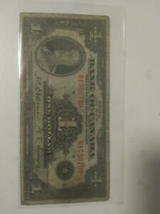 1935 CANADA ONE DOLLAR NOTE -