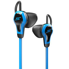 SMS Biosport Earphones Headphones with Heart Rate Monitor Remote Mic Blue