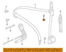 BMW OEM 01-05 325i Front Seat Belt-Seat Belt Assembly Bolt 07149148310