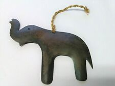 Metal Elephant Christmas Tree Holiday Ornament Made In India