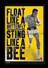 MUHAMMAD ALI FLOAT LIKE A BUTTERFLY 13x19 FRAMED GELCOAT POSTER GREATEST CHAMP!!