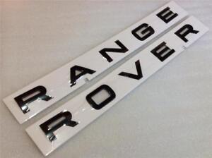 GENUINE RANGE ROVER VOGUE BONNET BOOT BADGE LETTERS *GLOSS BLACK*