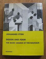 DESIGN AND FORM by Johannes Itten -1st HCDJ 1965  - BAUHAUS art - Reinhold