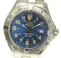 BREITLING Super Ocean A17040 Date blue Dial Automatic Men's Watch_546312