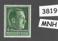 #3819     MNH  1938 Hitler Nuremberg stamp / PF06 Sc B120 Third Reich Germany